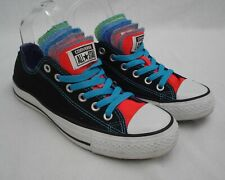 Converse All Star Black Multi Colour 5 Tongue Neon CT OX Trainers Womens 6 UK