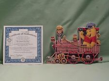 Pooh's Hunny Express Bradford Collectible Plate Wall Hanging All Aboard for Fun