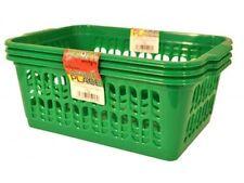 Wham anni Verde Set di 3 MEDIUM Plastica Handy frutta verdura cesto CUCINA uffi