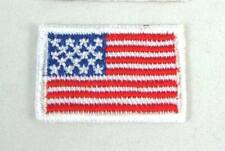 NATIONAL USA FLAG 2x3CM COUNTRY EMBROIDERED SEWING IRON-ON PATCH FREE SHIP