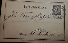 O) GERMANY, POSTAL STATIONERY NUMERAL 2 FROM BERLIN