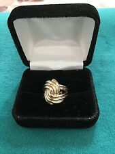 "Vintage Gold Swirl Ring size 6 /12.. ""Jacobson's"""