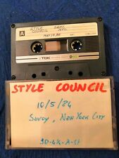 Style Council Live at The Savoy, New York 11-05-1984 Cassette Tape Paul Weller