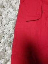 Sb scrub pants size xs red with pockets and elastic band