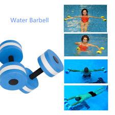 2Pcs Water Aerobics Dumbbell Medium EVA Foam Aqua Barbell Fitness Pool Exercise