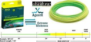 RIO Steelhead / Salmon Line 8wt WF8F NIB Float XS AgentX DualTone yellow/green