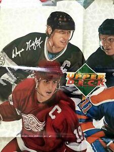 1991-92 Wayne Gretzky Yzerman Brett Hull Messier Upper Deck 24x36 Dealer Poster