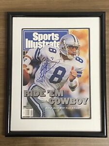 TROY AIKMAN signed Sports Illustrated SI print Auto Autograph Upper Deck UDA