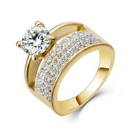 Fashion Women Zircon Finger Rings Pave Setting Austrian Crystal Wedding Jewelry