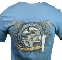 "Men's T-shirt ""Laid Back "" Relax, Kick back, unwind -Island Shores -Bahama beach"