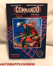 COMMANDO (Nintendo NES, 1986) Video Game Complete CIB w/ Custom Box Mint Tested