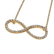 "Park Lane ""INFINITE"" Infinity NECKLACE - E Hollywood GOLD & Crystals  Orig $53"