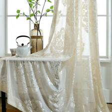 Damascus Embroidery Net Curtain Pelmet Lace Voile Tulle Window Panel Drape Sheer