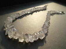 1 Elégant Collier Géant en Cristal de Quartz Brut Naturel ( Brésil ) 200 cts !!!