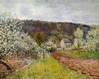 Alfred Sisley Rainy Spring Near Paris Painting Wall Art Decoration Print CANVAS