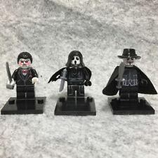 3PCS Horror Movie SAW Billy Scream Ghostface Guy Fawke Mini Figure Toy