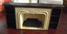Vintage 1950s Plasco Dollhouse Furniture Fireplace Shelf Unit
