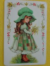 OLD VINTAGE  , LITTLE GIRL ,  SWAP PLAYING  CARD ,