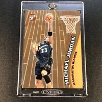 MICHAEL JORDAN 2001 TOPPS PRISTINE #64 METALLIC CHROME CARD WIZARDS COMEBACK NBA