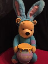 """Applause Winnie Pooh Bear In Rabbit Costume Easter Talking Funny Hunny Bunny 14"""""""