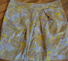 Cotton Blend Paisley Above Knee Skirts for Women