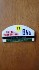 BNU Rally, S.Africa 1974 Driver Pass From Chris Sclater Ford Escort RS1600 MK1