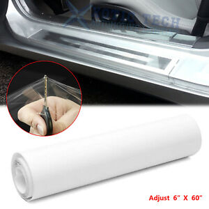 """Universal Clear Door Sill Edge Paint Protection Vinyl Cover Film Sheet 6'' x 60"""""""