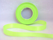 10mm X 5m Luxury Eleganza Gold Double Sided Satin Ribbon 5060222453423 Lime Green