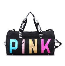 Women Gym Sports Yoga Bag PINK Laser Travel Luggage Duffel Pack Shoulder Bag