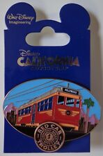 Disney Pin WDI Red Car Trolley Landmarks Comfort Speed & Safety Le 200