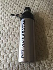 Stainless Steel Pet Dog Cat Water Bottle 24 ounces Pre-owned