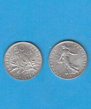 Gertbrolen 50 Centimes argent type Semeuse 1899 Superbe qualité Exemplaire N° 1