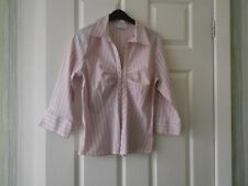 New Look, poly cotton, striped blouse, size 12