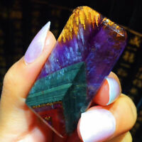 Natural Auralite 23 Crystal Gemstone Cube Pendant For Healing 14.2g