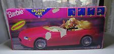 Vintage Mattel 1996 In Box Barbie Motorized Cruisin' Car 4 driving patterns