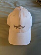 Patagonia Flexfit Flyfishing Trout Hat Cap NWOT OSFA Structured Khaki/Tan Nice!