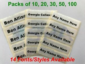 Iron On Name Labels Personalised 30 School Uniform Care Home Washable Waterproof