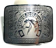 MEXICAN CHARRO WESTERN HORSE BELT BUCKLE. HEBILLA CHARRA. HEBILLA VAQUERA RODEO