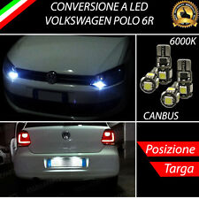 LUCI POSIZIONE A LED + LUCI TARGA A LED CANBUS VOLKSWAGEN POLO 6R NO ERROR