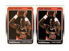 (2) 1988 Fleer CLYDE DREXLER #92 cards--Trailblazers, Hall of Fame!!