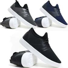 Mens Lace Up Trainers Chunky Flat Sole Walking Driving Sports Gym Canvas Shoes