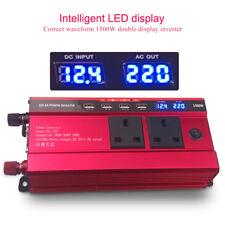1500W / 3000W DC 12V Supply to AC 230V Car Van Power Inverter Converter 4 USB