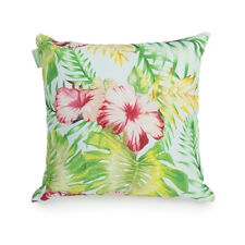 """Lily Print Outdoor 18"""" Cushion Cover Water Resistant Fabric Garden Décor"""
