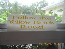 """The Wizard Of Oz """"Follow the Yellow Brick Road"""" yellow vinyl decal"""