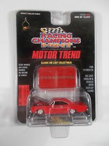 Racing Champions 1/64 Mint Motor Trend 1968 Plymouth