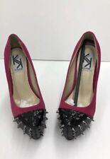 Kiss Kouture Pink Pumps with Black Spikes Sexy Women's Platform Heels  - Size 6