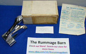 vintage ELITE address HAND STAMP with BOX / INSTRUCTIONS -- rectangle type