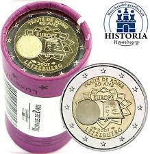 25 x Luxembourg 2 Euro pièces commémoratives 2007 Traités De Rome dans rôle