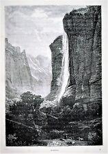 1894.Orig.Xilograf/Wood-Cut = STAUBBACH..= La  Svizzera Pittoresca.