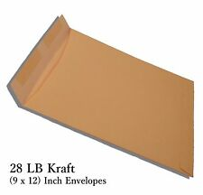 250 Pack of (9 x 12)Inch Standard Office Paper Size 28 LB Kraft Manila Envelopes